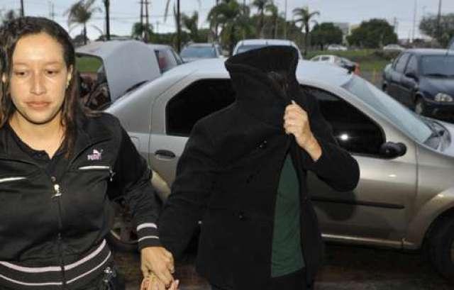 Imagem da prisão de uma das suspeitas (Ronaldo de Oliveira/CB/DA Press)