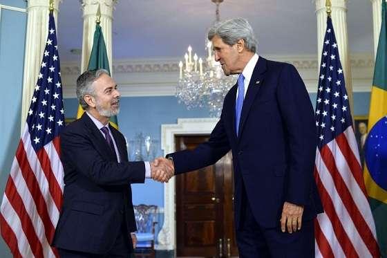 Patriota e Kerry trataram, entre outros temas, da primeira visita de Estado da presidenta Dilma Rousseff ao país, provavelmente em outubro (Fonte: Agência Brasil)