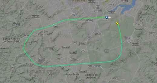 Reprodução/Flightradar24