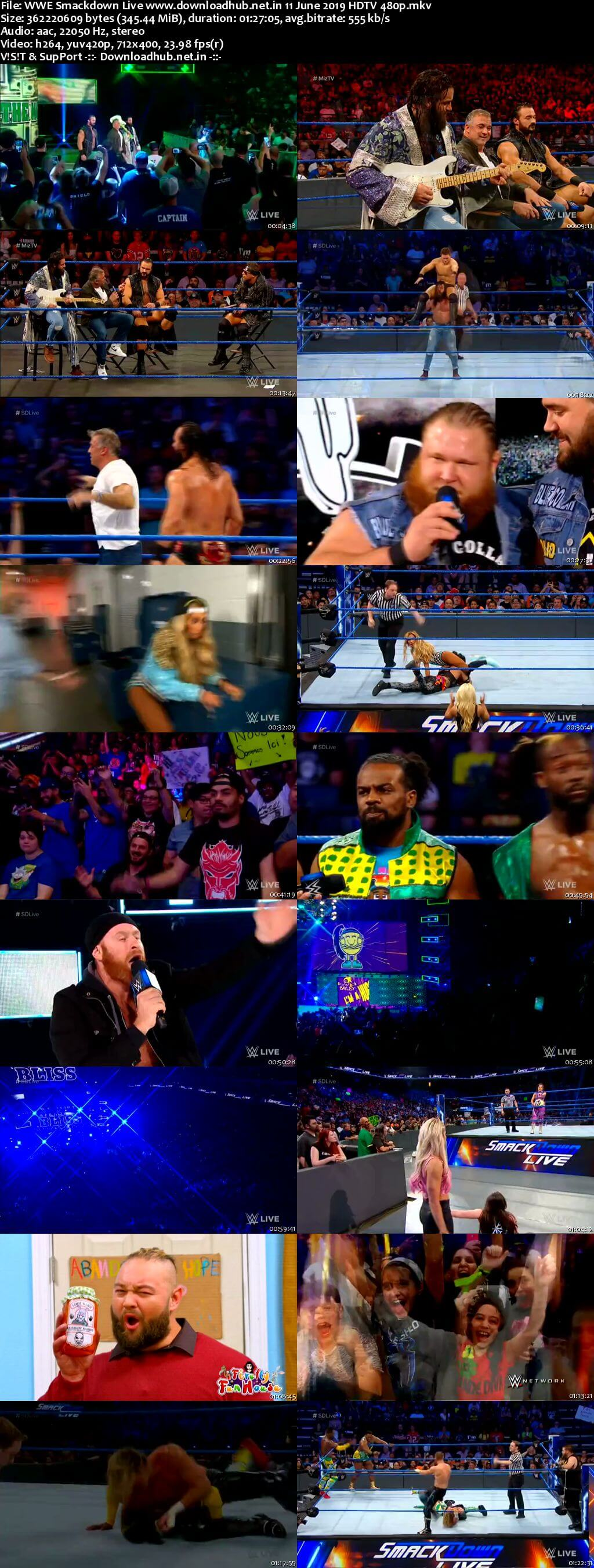 Download WWE Smackdown Live 11th June 2019