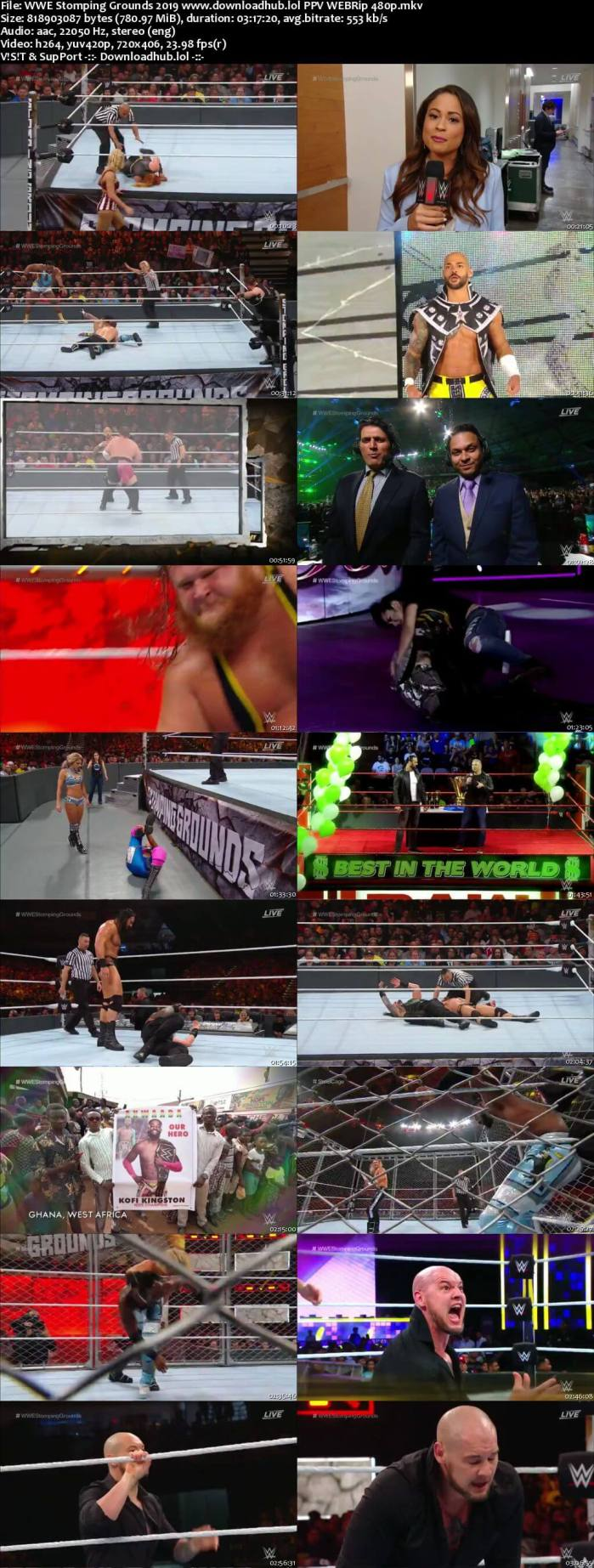 WWE Stomping Grounds 23rd June 2019 750MB 480p