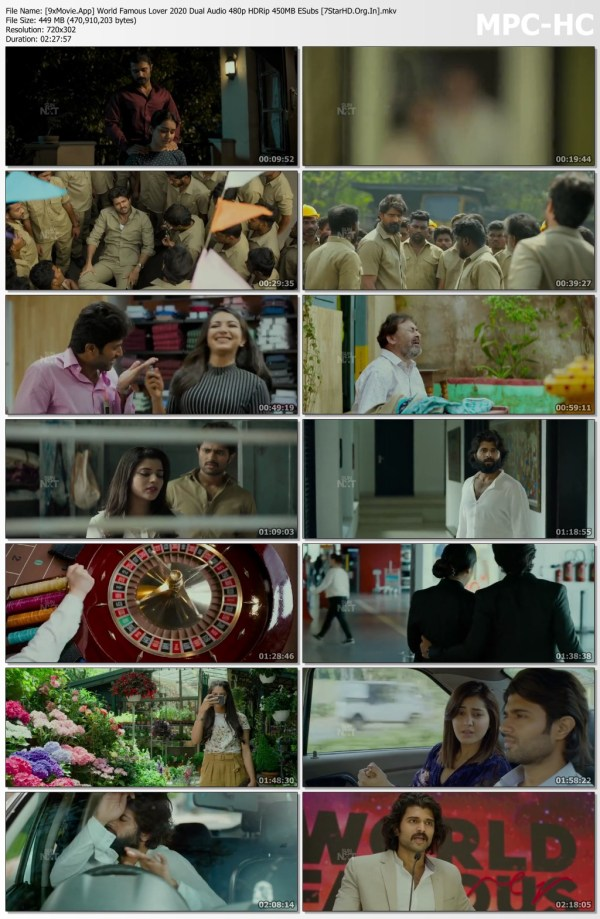 World Famous Lover 2020 Dual Audio 480p HDRip x264 450MB ESubs