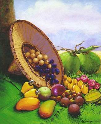 Harvest  [#1407736] Harvest in the Philippines -- an oil painting by Esteban