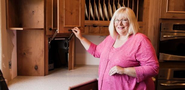 Pamela Rodriguez, uma designer de cozinhas, usou um software para desenvolver a planta de remodelação