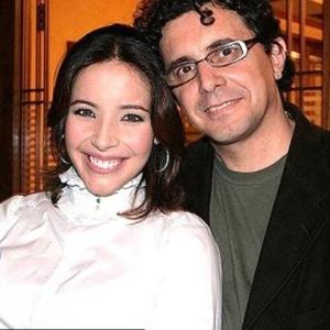 Edson Spinello e a mulher, a atriz Renata Dominguez