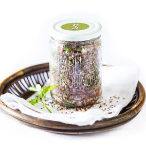 Vidro de tabule de quinoa vendido pela S Simplesmente, em São Paulo