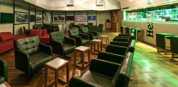 O Living Heineken  é semelhante que a marca mantém em aeroportos de outros países