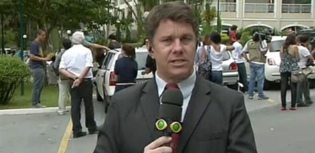 O repórter Marcelo Moreira pegou dengue, ao fazer reportagem sobre a doença na Grande São Paulo