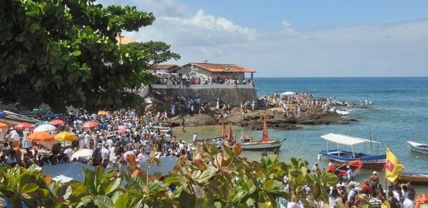 Dia de Iemanjá na Praia dos Pescadores, no Rio Vermelho, em Salvador