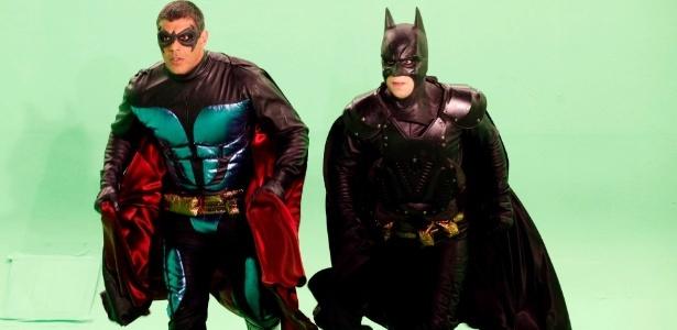 Alexandre Frota e Tuca Graça como Batman e Robin
