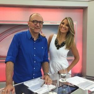 """Os apresentadores do """"Programa da Tarde"""" Britto Jr. e Ticiane Pinheiro"""