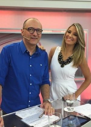 """Britto Jr. e Ticiane Pinheiro, apresentadores do """"Programa da Tarde"""""""