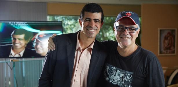 Marcius Melhem com o diretor Luciano Sabino