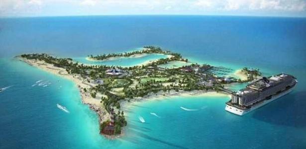 A ilha da MSC ficará a cerca de 105 km de Miami