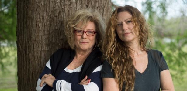 Marília Carneiro e Patrícia Pillar durante as gravações na Patagônia