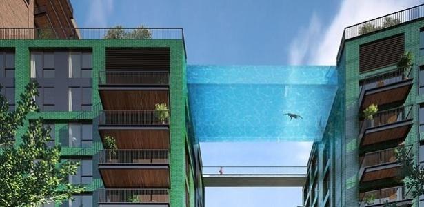 A piscina irá conectar dois edifícios da capital inglesa