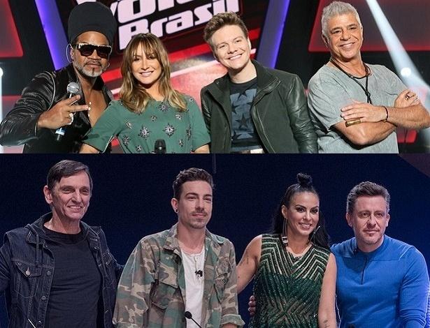 """Jurados do """"The Voice Brasil"""" e do """"X Factor"""""""