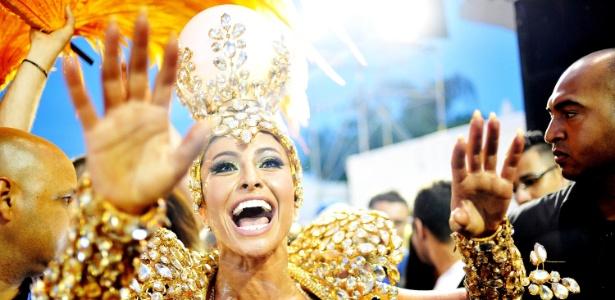 """Sabrina Sato no desfile da """"Gaviões"""""""