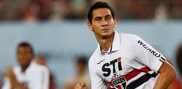 Ganso comemora ao marcar para o São Paulo contra o Kashima Antlers
