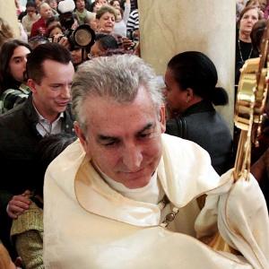 O tenente-coronel Osvaldo Palópito, que é padre da Igreja Católica