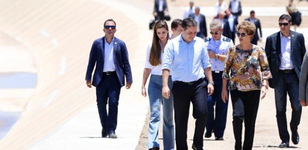A presidente Dilma Rousseff e o governador Renan Filho (PMDB) inauguraram no dia 5 de novembro o 3° trecho do Canal do Sertão em Alagoas