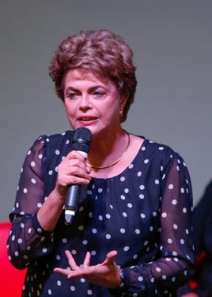 A presidente afastada Dilma Rousseff