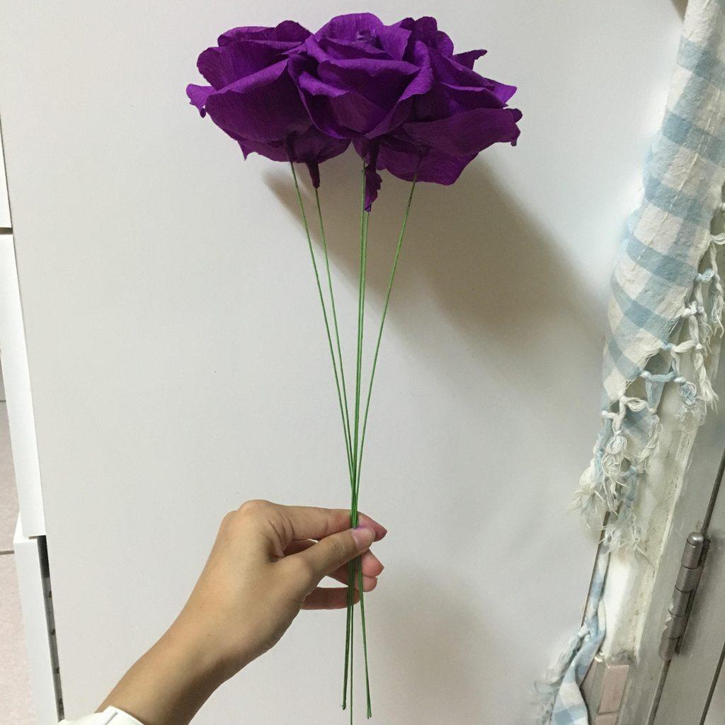 #皺摺紙#玫瑰花束#附玫瑰及包裝教學 - 手作板 | Dcard