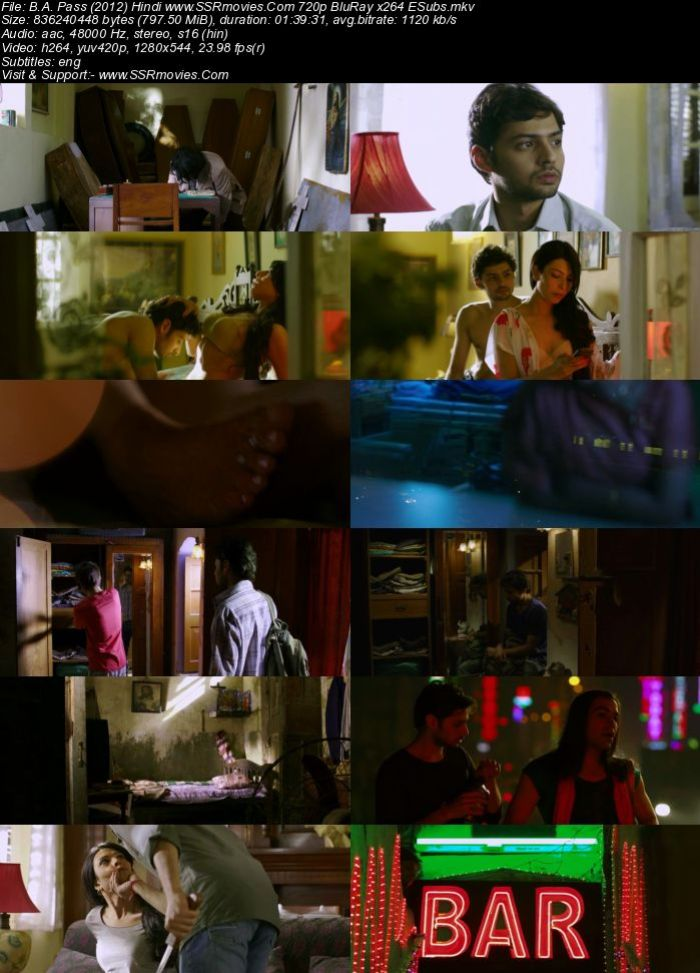 B.A. Pass (2012) Hindi 720p BluRay x264 800MB ESubs Full Movie Download