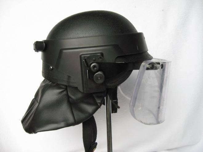 Ballistic Helmet With Visor Face Shield