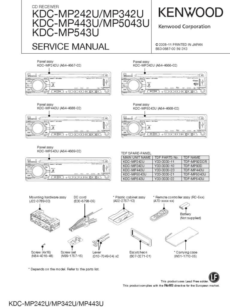 Kenwood Kdc Mp342u Wiring Diagram  Somurich