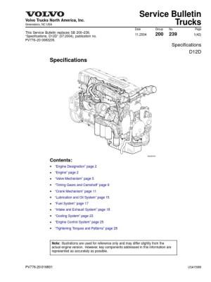 Volvo D12D Especificacion | Gear
