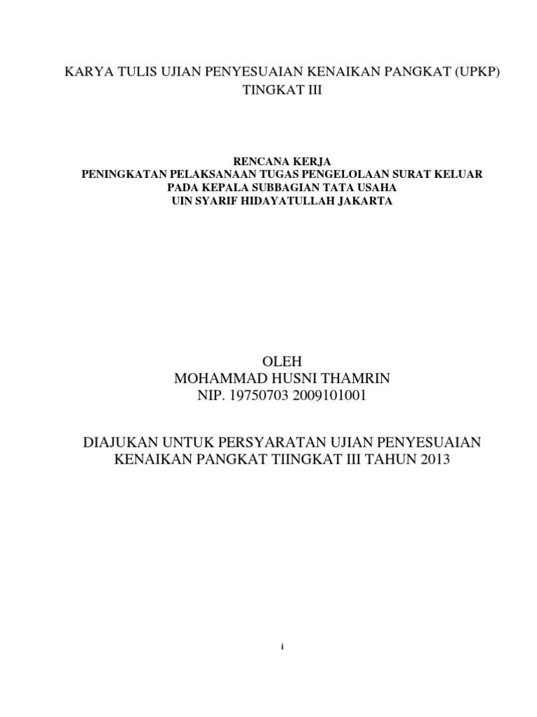 15 Contoh Makalah Upkp Kementerian Agama