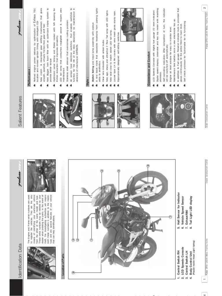 Pulsar DTSi Service Manual   Motor Oil   Brake