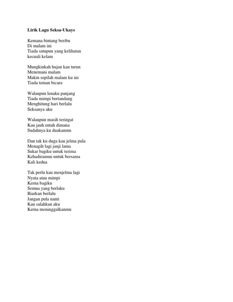 Lyric ~ Lirik Lagu: Menghitung Hari 2