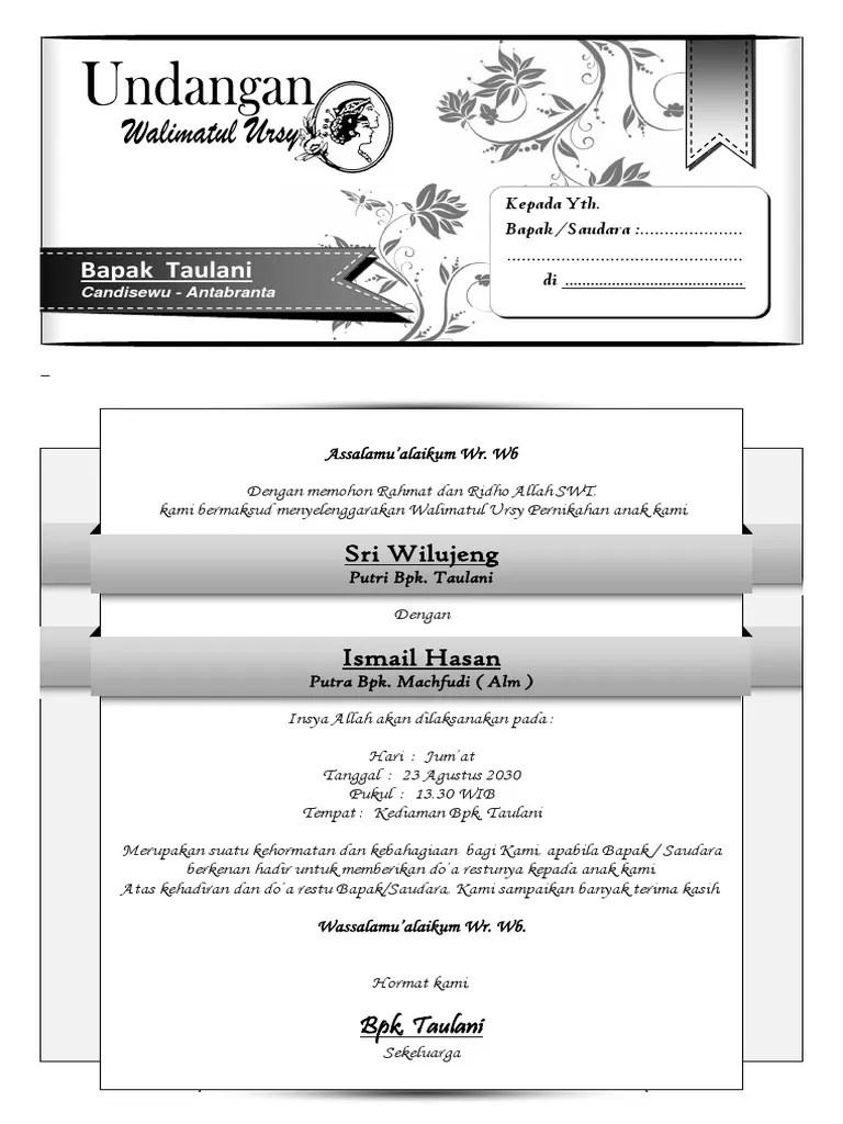 Undangan Walimatul Ursy Simple Docx