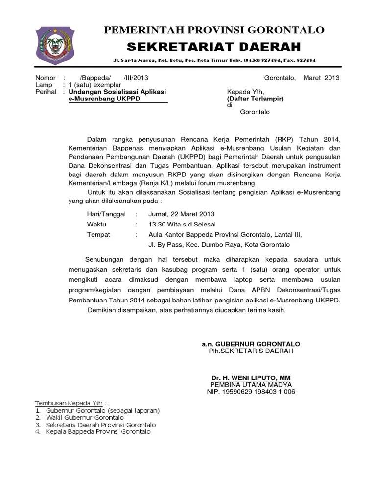 Contoh Surat Resmi Undangan Pemerintah - Content