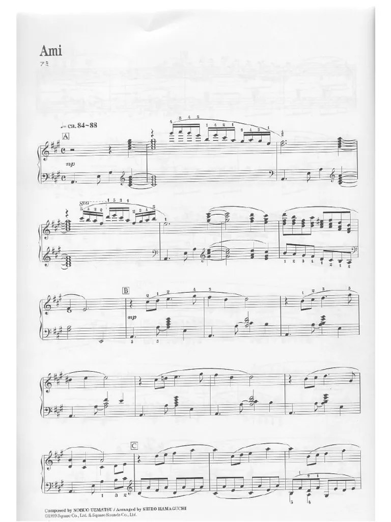 Final Fantasy 8 Piano Collections Sheet Music Complete