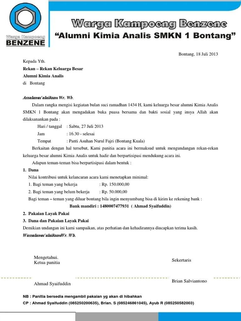 Surat Undangan Bukber Baksos