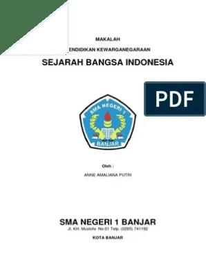 14 Contoh Makalah Sejarah Lahirnya Bangsa Indonesia