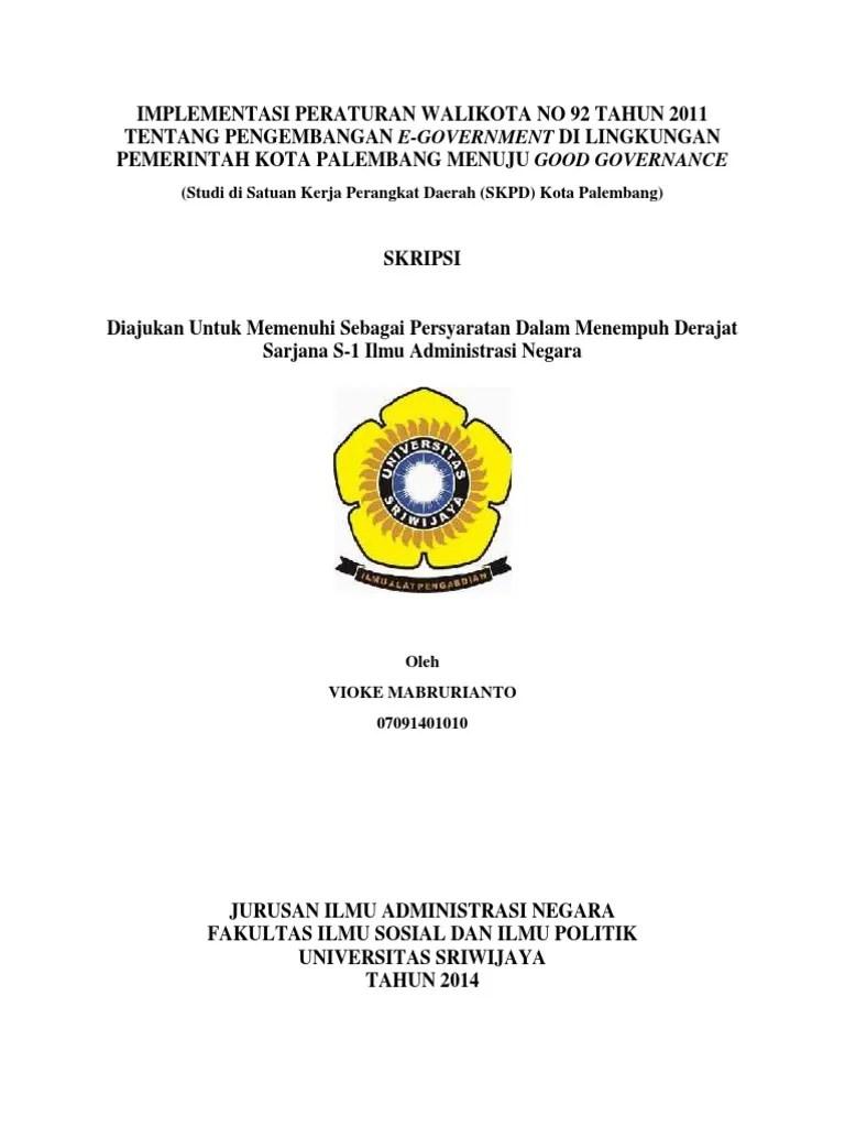 15 Judul Skripsi Administrasi Negara Terbaru