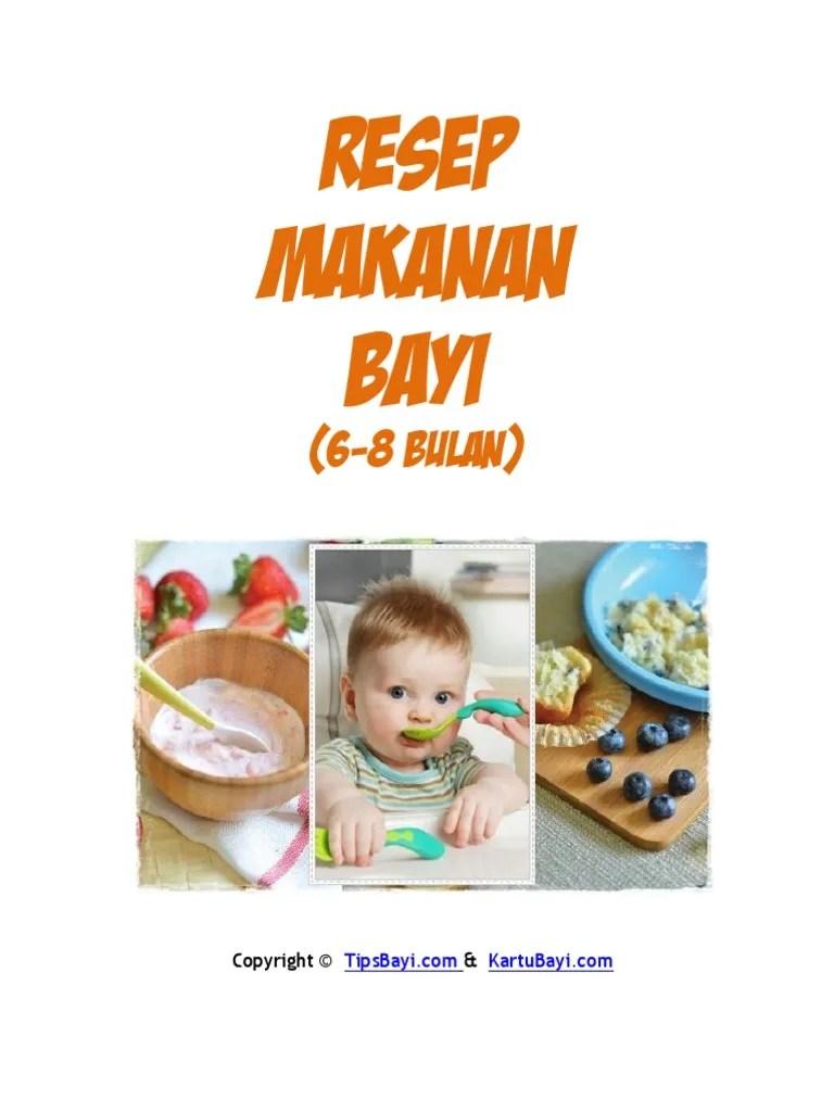 Resep Makanan Bayi 6 8 Bulan