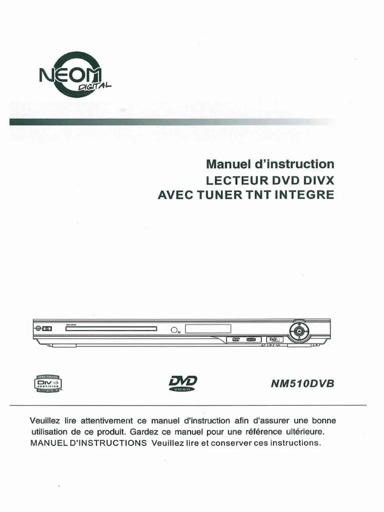 notice dvd tnt nm510dvb disque