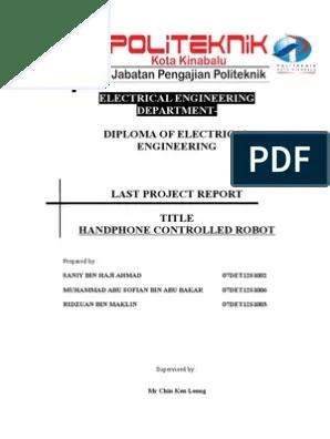 Contoh Report Final Projek Politeknik Teknologi Maklumat