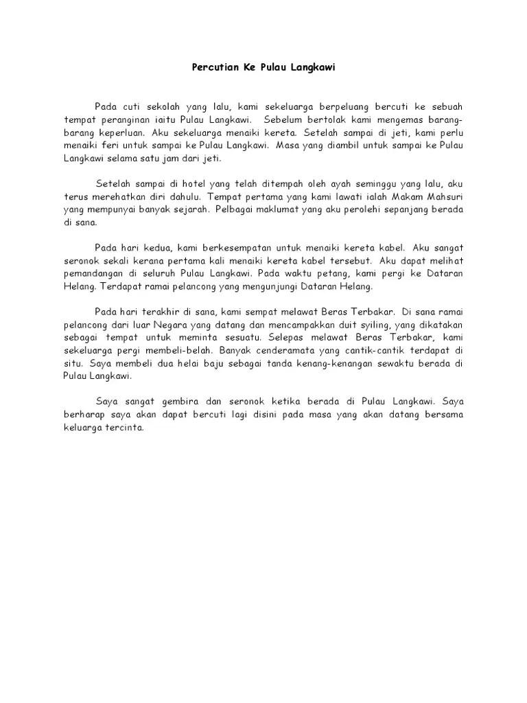 Contoh Karangan Pengalaman Bercuti Di Cameron Highland Alsalaman