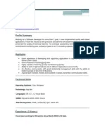 Dot Net Developer Net Developer Sample Resume Cv Microsoft Sql Server Microsoft Visual Studio