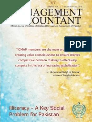 Management Accountant Journal Jan Feb 2015 Literacy