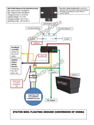 Stator ModFloating Ground Honda Wave100 XRM110   Wire   Mag