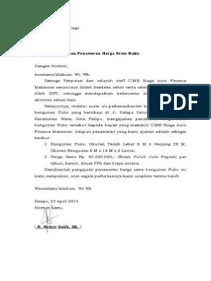 19 Contoh Surat Penawaran Kerjasama Notaris Dengan Bank