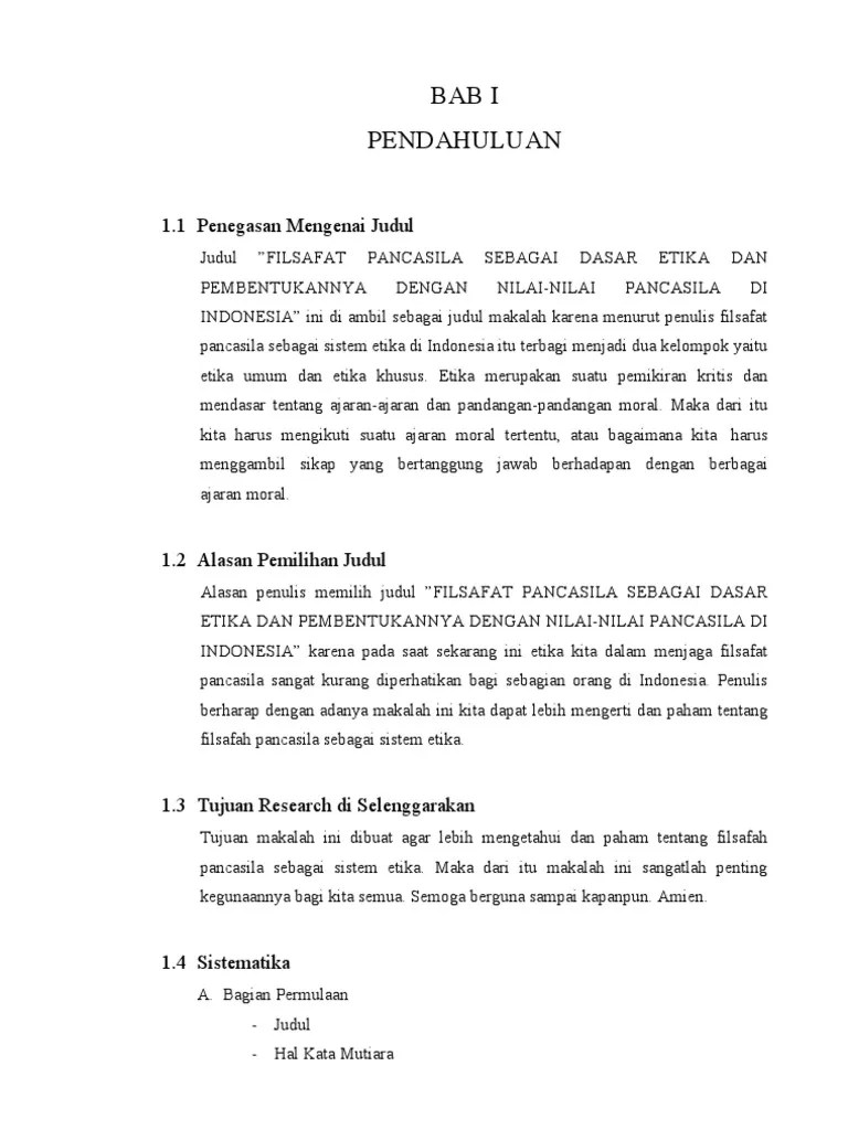 15 Makalah Sistematika Filsafat Pancasila