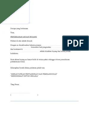 Surat Akuan Bujang Johor Pdf